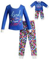 """Dollie & Me Girls 4-14 Kind is the New Cool"""" Floral Top & Bottoms Pajama Set"""