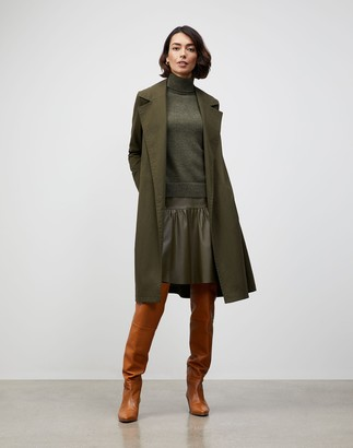 Lafayette 148 New York Italian Sueded Cotton Mayfair Trench