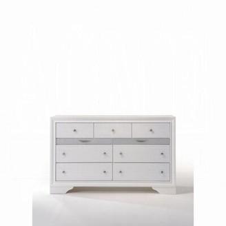 Mutsumi Home Studio Mara 9 Drawer Double Dresser Color: White