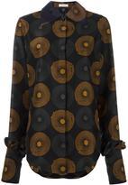 Nina Ricci printed ruffle cuff blouse - women - Silk - 34