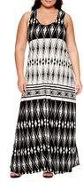 U-NI-TY Sleeveless Maxi Dress-Plus