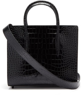 Christian Louboutin Paloma Medium Croc-effect Leather Tote Bag - Black