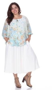 White Mark Plus Tasmin Flare Midi Skirts
