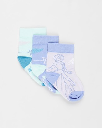 adidas Girl's Blue Socks - Frozen Crew Socks 3-Pack - Kids - Size S at The Iconic