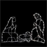 Asstd National Brand 25.5 Pre-Lit White Holy Family Nativity Scene Yard Art