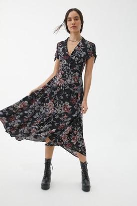 Urban Outfitters Elle Button-Through Midi Dress