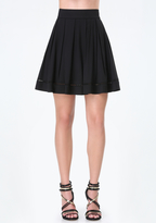 Bebe Maria Twill Box Pleat Skirt
