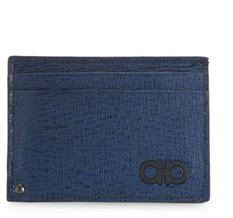 Salvatore Ferragamo Revival Gancini Leather Card Case