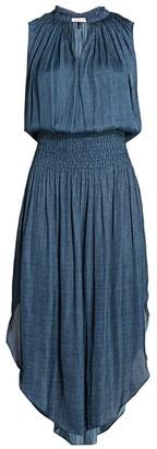 Halston Smocked Waist Dress