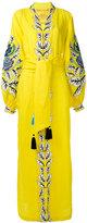 Yuliya Magdych - oversize embroidered kaftan - women - Linen/Flax - M