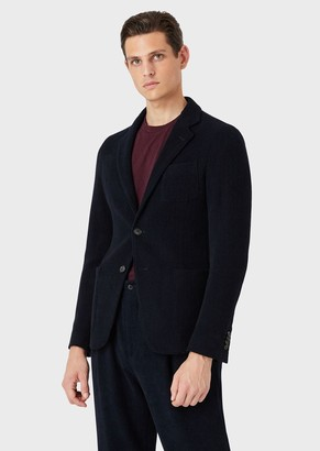 Giorgio Armani Regular-Fit Stretch Chenille Jacket From The Upton Collection