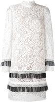 Erdem lace long sleeve mini dress - women - Silk/Cotton/Polyamide/Rayon - 6