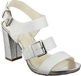 Anne Klein Onmymind Block Heel Leather Sandals
