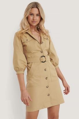 Trendyol Puff Sleeve Belt Shirt Dress