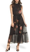 Sachin + Babi Women's Rana Smocked Neck Midi Dress