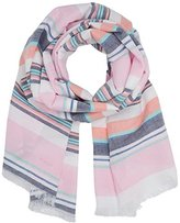 Gant Women's O Multistripe Cotton Linen Scarf