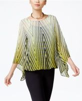 Alfani Petite Printed Blouson Top, Only at Macy's