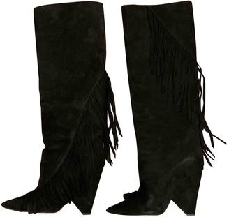 Saint Laurent Niki Black Suede Boots