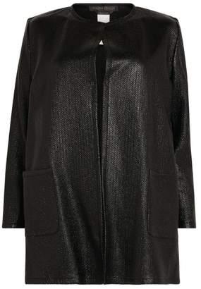 Marina Rinaldi Textured Open-Front Jacket