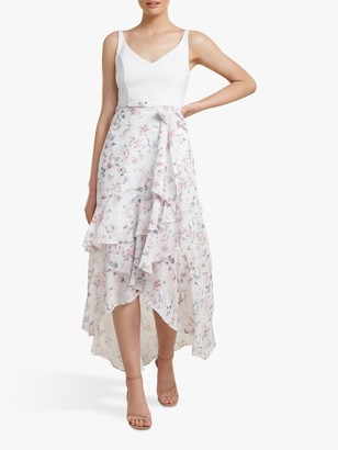 Forever New Everly 2-In-1 Frill Midi Dress, Sweet Dream Floral
