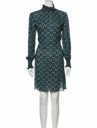 Anna Sui Printed Knee-Length Dress w/ Tags Black