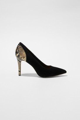 French Connection Suede And Python Stiletto Heels