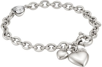 Nomination Rock in Love Heart Bracelet w/Cubic Zirconia