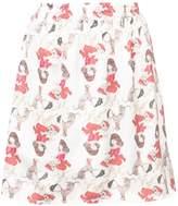Undercover girl print skirt