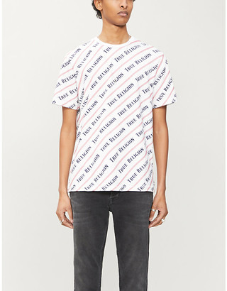 True Religion Logo-print stretch-cotton T-shirt