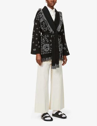 Alanui Bandana fair isle-pattern cashmere cardigan