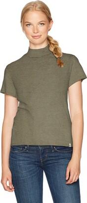 Volcom Women's She Shell Short Sleeve Mock Neck Tee