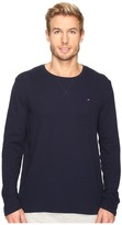 Tommy Hilfiger Waffle Crew Neck Long Sleeve Shirt