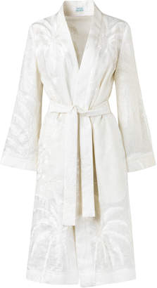 Playa Maison Alma Blanca Embroidered Wrap Coat