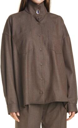 REMAIN Birger Christensen Robin Stretch-Wool Shirt