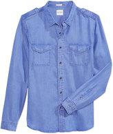 GUESS Men's Slim-Fit Cotton Shirt