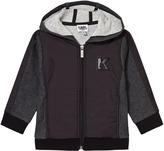 Karl Lagerfeld Charcoal Marl and Black Branded Hoody