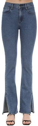 3x1 Flared Cotton Denim Jeans W/slits