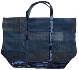 Vanessa Bruno Denim Patchwork Tote