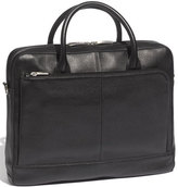 Bosca Men's Slim Leather Briefcase - Black