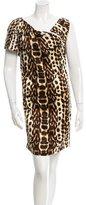 Just Cavalli Asymmetrical Silk Dress