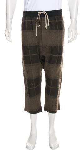 Rick Owens 2018 Camel Hair-Blend Cropped Pants w/ Tags