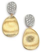 Marco Bicego Lunaria Diamond & 18K Yellow Gold Small Drop Earrings