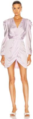 Jonathan Simkhai Jan Satin Ruched Mini Dress in Lilac | FWRD