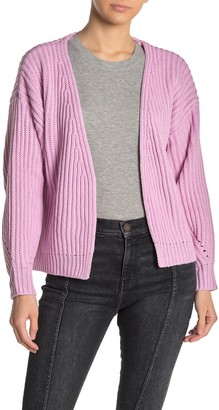 CODEXMODE Solid Open Front Dolman Cardigan