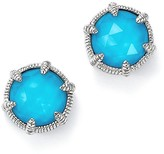 Judith Ripka Sterling Silver Eclipse Stud Doublet Stud Earrings