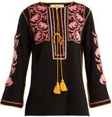 Figue Zoe embroidered cotton shirt