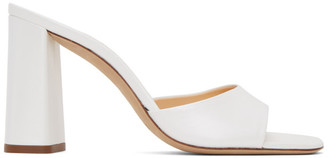 BY FAR White Juju Heeled Sandals