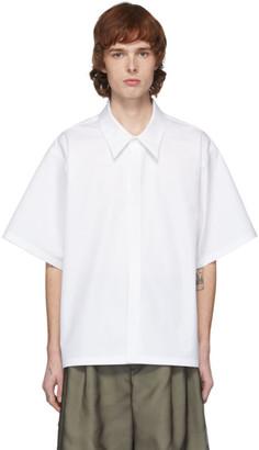 Maison Margiela White Heavy Poplin Short Sleeve Shirt