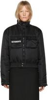 Vetements Reversible Black Police Woman Bomber Jacket