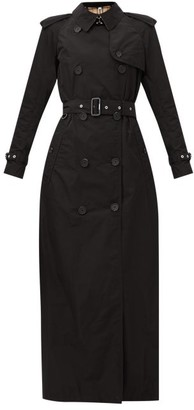 Burberry Battersea Gabardine Trench Coat - Black